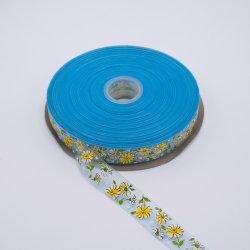 Het Afgedrukte Lint Organza van koningin Burgundy Floral Glitter Tartan Dallas Druk Metaal (OR7078)