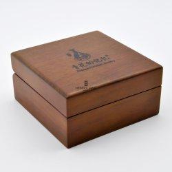 맞춤형 스퀘어 원목 무트 마감 귀금속 선물 보관소 포장 디스플레이 포장 로고와 함께 상자