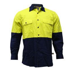 工場働きのための卸し売りカスタマイゼーションメンズ作業ワイシャツのジャケット