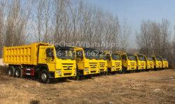 En gros le basculement de la marque populaire de Chine 10 Diesel Wheeler 50 tonne Sinotruck 6X4 utilisé pour la vente de camion à benne HOWO par propriétaire