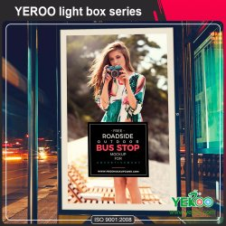 Signo de desplazamiento de la calle de desplazamiento- LED Light Box- Super Mercado Publicidad