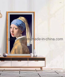 Cornice In Legno Lcd Di Grandi Dimensioni Cornice Fotografica Digitale / Galleria D'Arte Lcd Display Digitale / Digital Oil Painting Display Per Galleria D'Arte