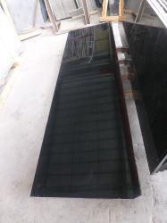 Pedra natural de ladrilhos de granito preto absoluto polida para andar/Bancada/Vaidade Top/banheiro