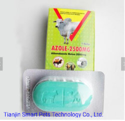 Composé de la médecine vétérinaire antiparasitaires Albendazole 250mg comprimé 300mg 600mg 2500mg