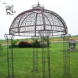 装飾Igc015のためのヨーロッパ式の庭の円形鉄のシンプルな設計のパビリオン