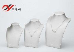 Cuir synthétique blanc Buste de bijoux pour collier d'affichage d'affichage