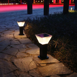 إضاءة حديقة صغيرة ذات شكل ماسي منخفضة الجهد ضوء طاقة شمسية خفيف