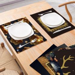 Commerce de gros Hot-Selling Décoration de Noël le coton Récapitulatif de fonctionnement Nordic vent isolement Table de cuisine Tapis antidérapant