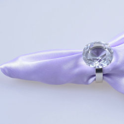 grande anello di tovagliolo di cristallo libero del diamante di 80mm per la decorazione