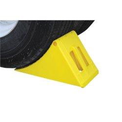 Hochleistungs-HDPE Plastik-LKW-Schlussteil-Rad-Keil mit Stahlhalter