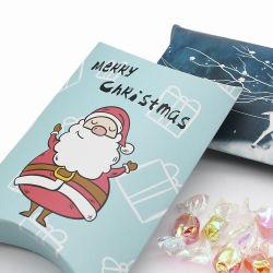 Commerce de gros blanc givré imprimé Personnalisé Papier de petit format oreiller Coffrets cadeaux
