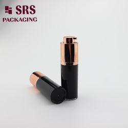 Runde rotierende luftlose kosmetische Plastikflasche 30ml
