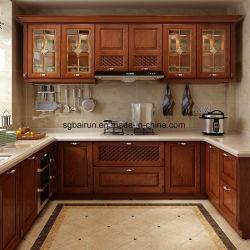 Estrutura de estilo americano de carcaça de compensado de madeira armário de cozinha