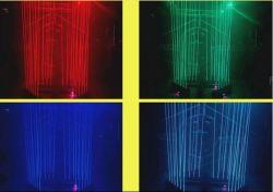 Полный Цвет RGB 3 в 1 DMX512 6 Глаза перемещение головки света LED этапе лазера
