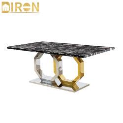 Китай оптовая торговля современным дизайном роскошных Журнальный столик из нержавеющей стали золотой обеденный стол