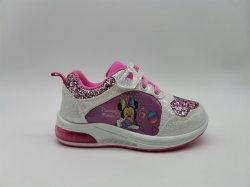 Einspritzung-Kind-Schuhe Minnie Form-Turnschuh für Mädchen-Fußbekleidung mit Licht-Funkeln hohem PU-Oberleder