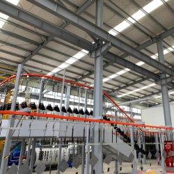 Revestimiento en polvo/Líquido automático de la línea de producción de pintura con cabina de pintura
