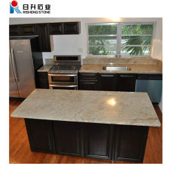 Cozinha de granito de Pedra Natural cinza bancada de granito vaidade Top Borda Plana