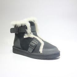 La mujer botas de invierno Última moda forro de lana se inicia con la correa cálida botas zapatos de marca