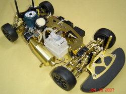 RCの1:10のニトロ4WD道のレースカーを合金にしなさい