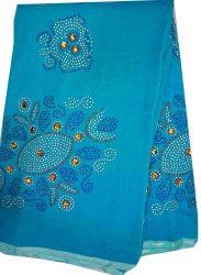 服Cl4029-Tを作るためのアフリカの女性。 青い