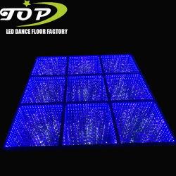 DJ Dança da festa de casamento romântico LED magnético de vidro temperado espelho 3D luz de piso de dança estrelado
