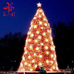 Lit pre affollata esterna illumina in su gli alberi di Natale di modello di Walmart del metallo 3D