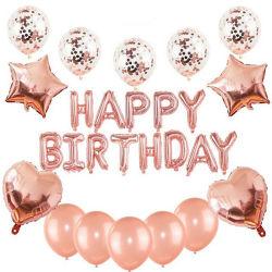 Feliz Aniversário balões chuveiro do bebê Evento de aniversário decoração partido favores a festa de aniversário de suprimentos