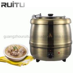 Arabischer Küche-Zubehör-Buffet-Umhüllung-Nahrungsmittelwärmer-Behälter-heißer Potenziometer-Edelstahl-elektrischer kupferner Messingküche-Gerät-Suppe-Kessel für Hotel-Gerät