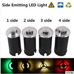 側面LEDのデッキからのライトはPasswayのための12V 24V AC110V AC220V 1Wの小型屋外の庭の地下ランプをつける