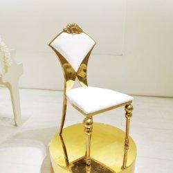 Chaire en acier inoxydable Hotsale Golden avec en cuir pour le banquet de l'événement partie hôtel intérieur en extérieur
