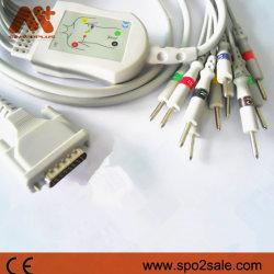 Cabo de ECG Schiller Direct-Connect compatível para DIN3.0 com resistência