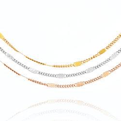 Venta de accesorios de moda Costum caliente joyas chapado en oro Pulsera Collar Jewellry Anklet para dama