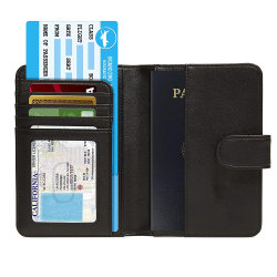 グループPUのパスポートのホールダーの切符のカード袋のカスタムのどの革カバー人旅行札入れ
