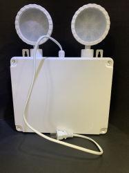 Bateria Recarregável de LED à prova de Emergência 2X10W Lâmpada de cabeça dupla