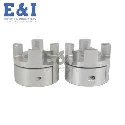 Tecnologia di forgiatura a freddo in alluminio di alta qualità personalizzata in fabbrica, lavorazione CNC per accoppiamento flessibile a doppia ganascia elastica ad alta coppia