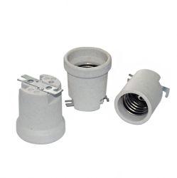 Hochwertige hitzebeständige Keramik Lampenfassung E27-F519
