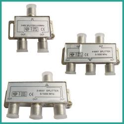 Conector Divisor satelital Splitter CATV 5-1000MHz 2Way 3forma 4WAY