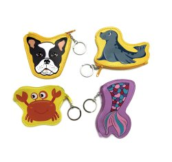 Kids Girls Giftのための硬貨のPurse Mini PU Green Leather Bag Coin Purse Ladybag Toys