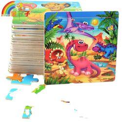 Venda por grosso jogo educativo de brinquedos a crianças de animal de madeira Puzzle
