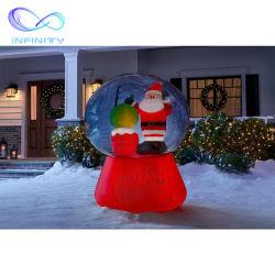 Горячая продажа гигантские реклама мультфильм баллон надувной Рождество Санта с рюкзаком