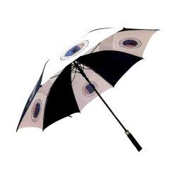 27 pollici in fibra di vetro diritto Extra lungo personalizzato ombrelloni da golf Promotional Ombrello con stampe con logo UV coating