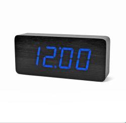 電子木製のクロックデジタル表示装置のクロック目覚し時計