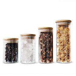 10 20 30 50 100 200 250 300 420 500 1000 1200 2000 3 000 ml de solution de stockage des aliments transparente en borosilicaté Pot en verre avec couvercle pour biscuits à l'huile de noix au miel Bonbons
