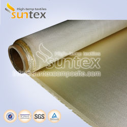 600-650GSM 0,65mm de altura de fibra de vidro de sílica tecido para cortinas de soldadura