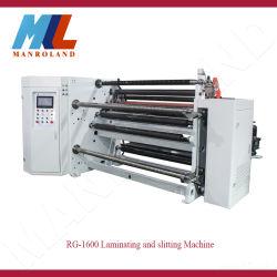Rg-1600 hoge snelheid die en Machine voor Document en Film lamineren scheuren die het Snijden, Matrijs, Schuim, Film, het Zelfklevende Knipsel en Opnieuw opwinden scheuren