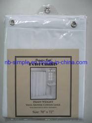 투명 PVC 라이너/메탈 구멍 포함 투명/4단계 방수 호텔/홈용 헤비 비닐 샤워 커튼