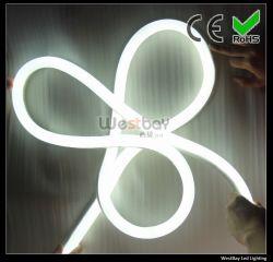 مصباح LED فائق من نوع LED بتقنية Neon Flex 110 فولت باللون الأبيض، مع حبل