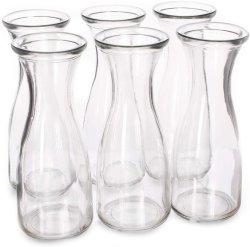 ガラスCarafeの飲料のびんは、-水水差し、ワインのデカンター、カクテル、Mimosas、センターピース、芸術及びクラフト-レストラン、ケイタリング、党、ホームKを6詰める