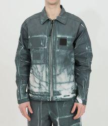 Колледж мужчин мода одежда канавки печать полиэстер торговой марки куртка с исправлениями